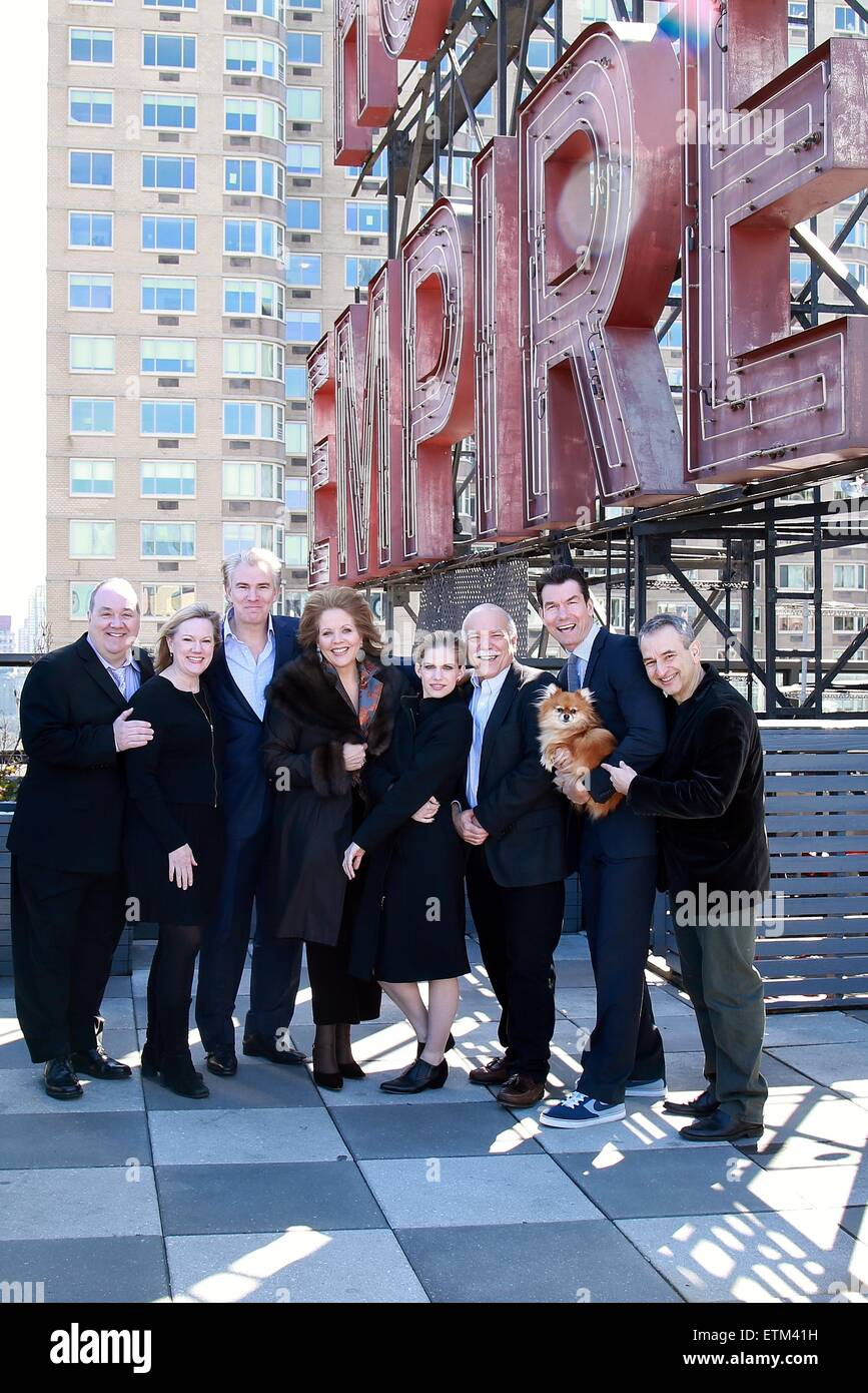 Press junket for Broadway play Living On Love held at the Empire Hotel.  Featuring: Blake Hammond, Kathleen Marshall, - Stock Image