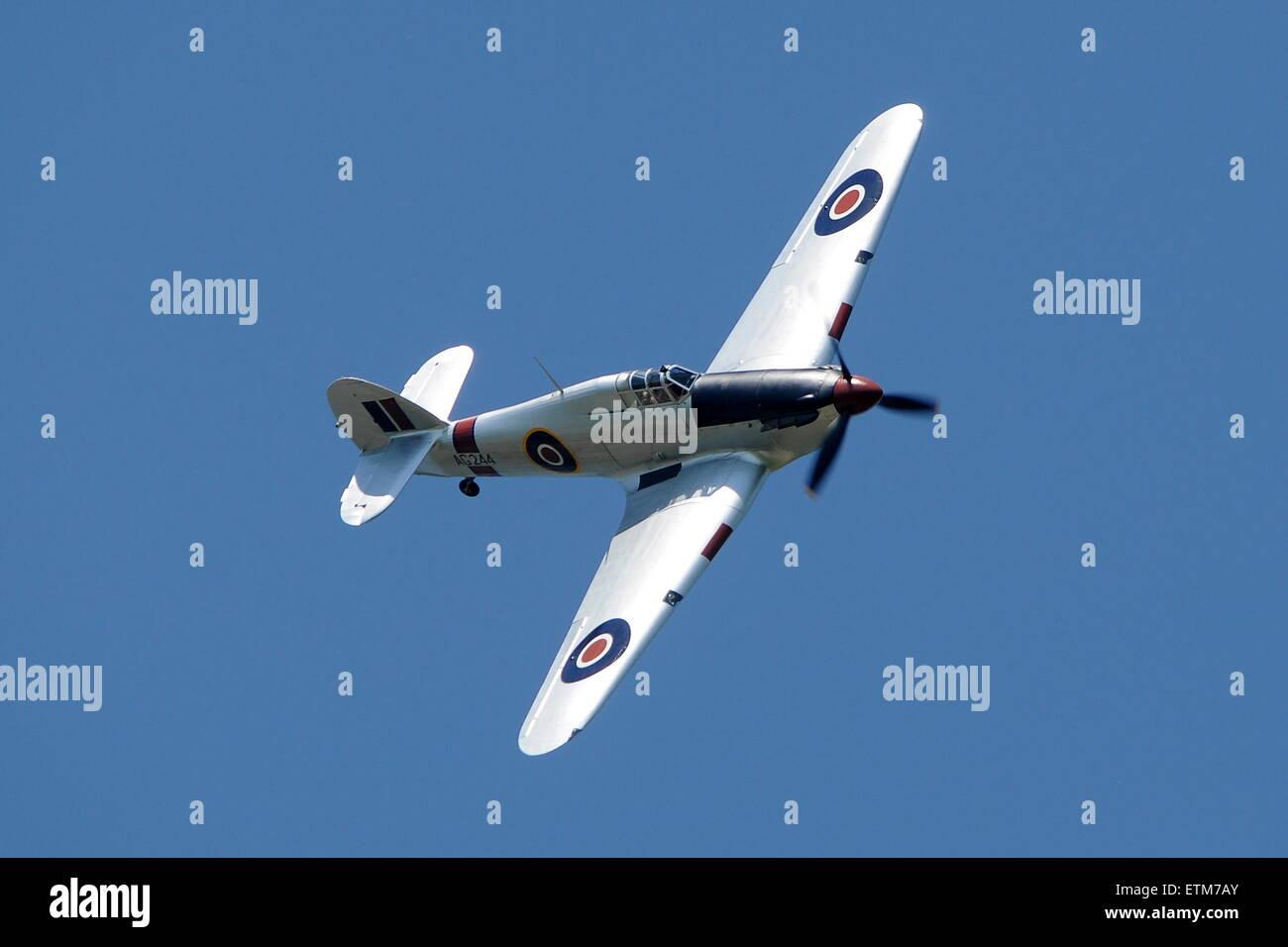 Aviation fair in Pardubice 2015, Hurricane RAF - Stock Image