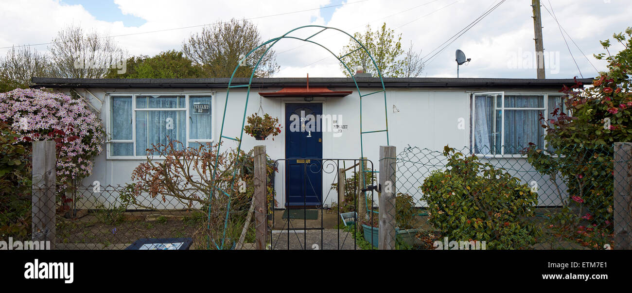 Prefabricated bungalow at Excalibur Estate Catford London Excalibur