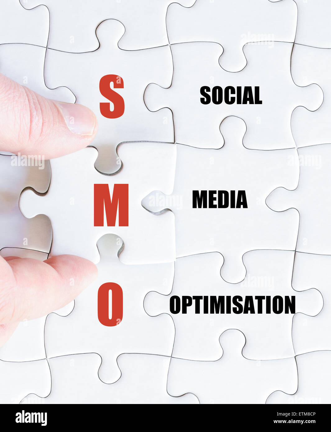 Concept image of Business Acronym SMO as Social Media Optimisation - Stock Image