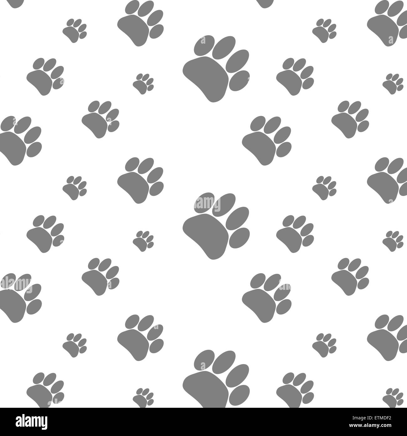 Seamless Patter Foot Print Dog Footprint Animal Background Paw Pet Wander Puppy Vector Graphic Illustration