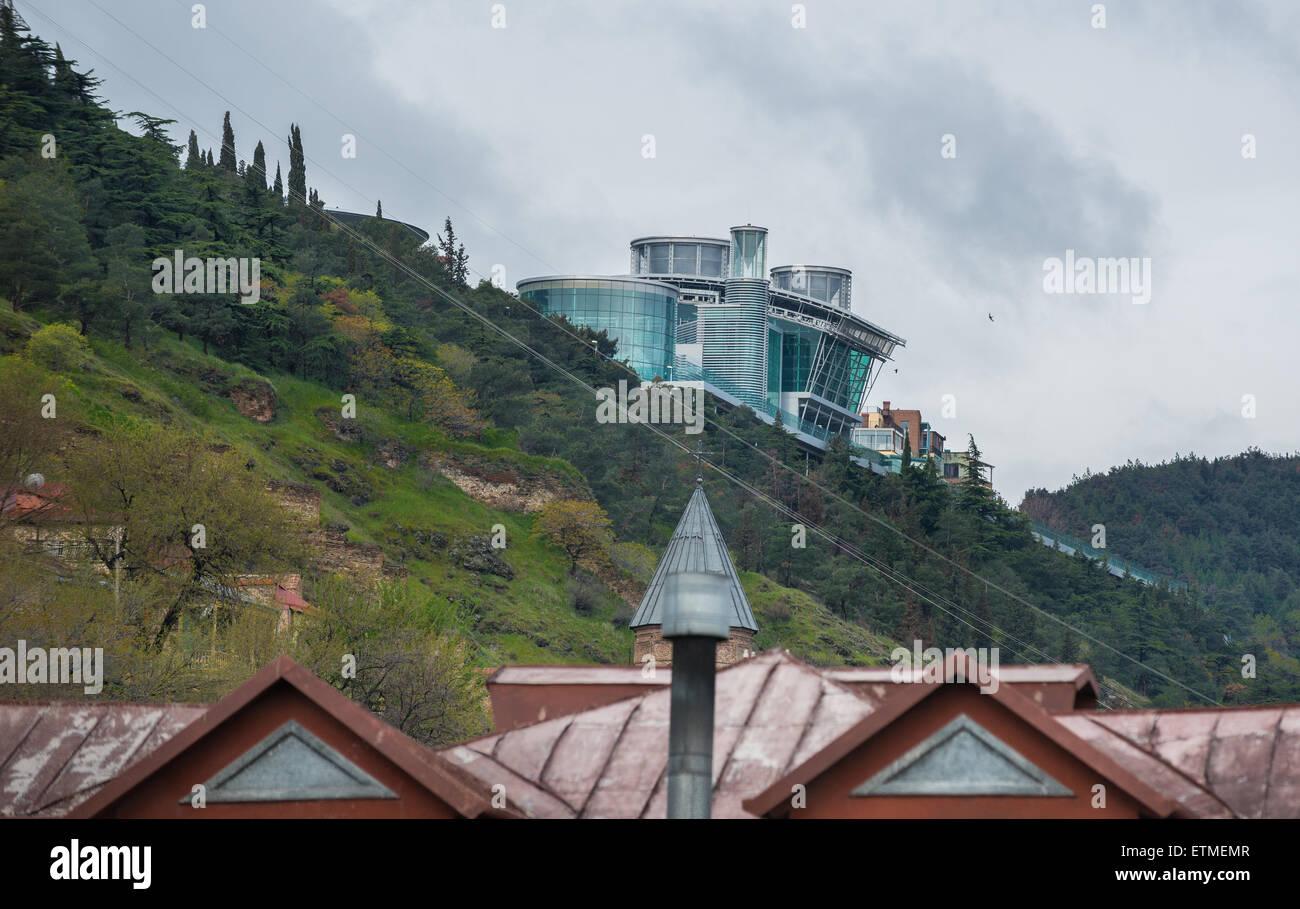 Sololaki Palace building in Tbilisi, capital of Georgia Stock Photo