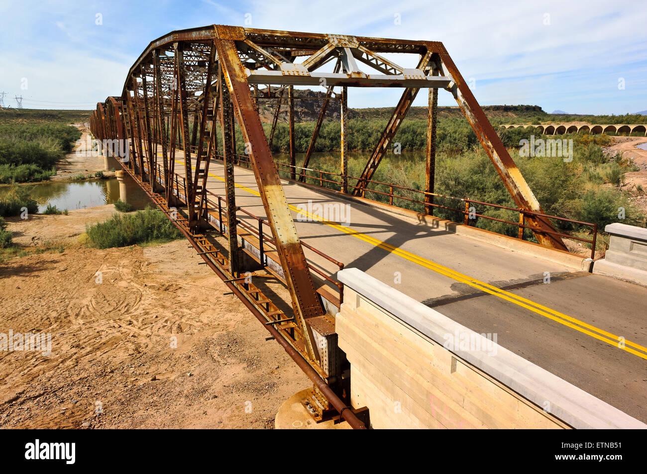 Gillespie Bridge, Arlington, Arizona, USA - Stock Image