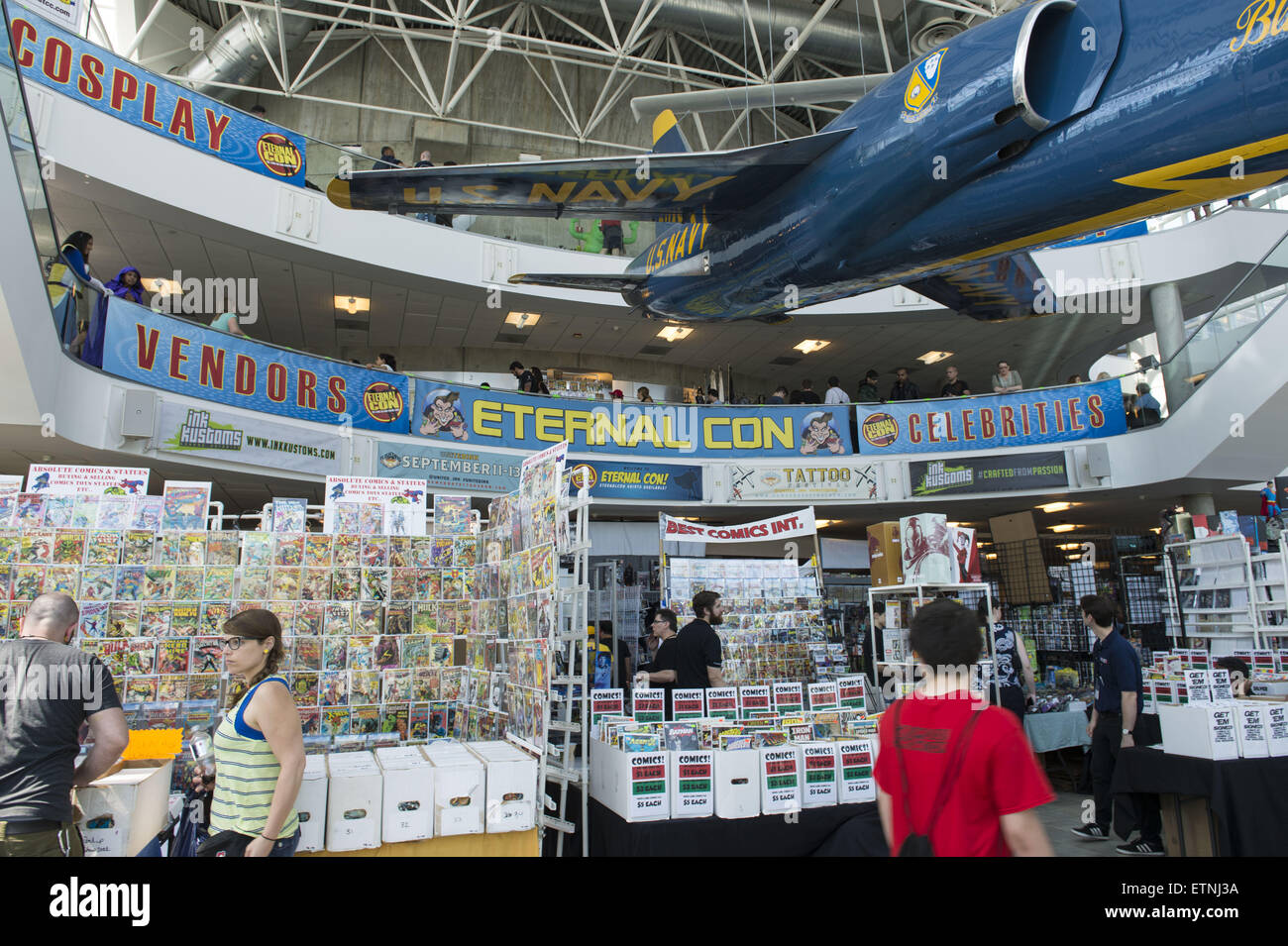 Garden City, New York, USA. 14th June, 2015. at Eternal Con, the Long Island Comic Con, at the Cradle of Aviation - Stock Image