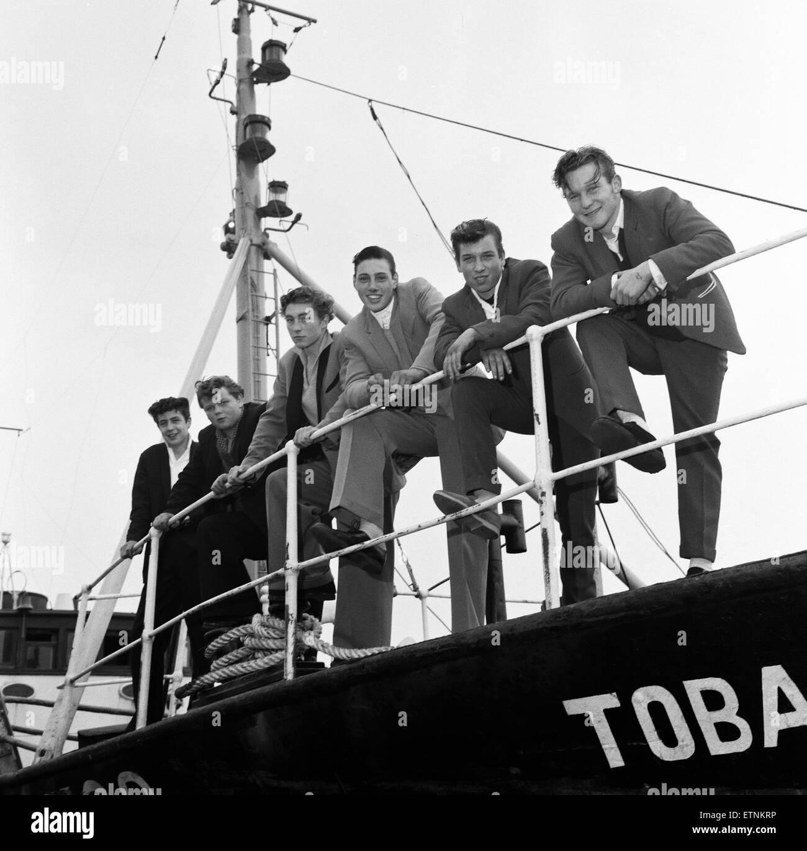 'Dockside Dandies' including David Goldspink, 17, Ray Winney, 16, Johnny Ball, 16, Tony Scrivens, 16, at - Stock Image