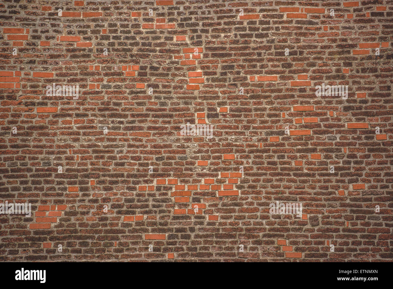 Rustic Brick Wall Texture Pattern As Urban Background Retro Toned Vintage Effect