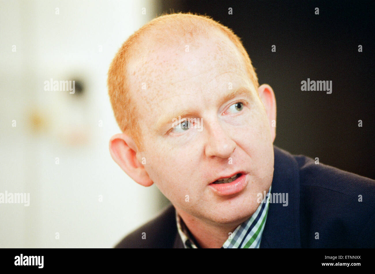 Alan McGee, co owner Creation Records label, and manager of Oasis music group, pictured 28th August 1997. - Stock Image