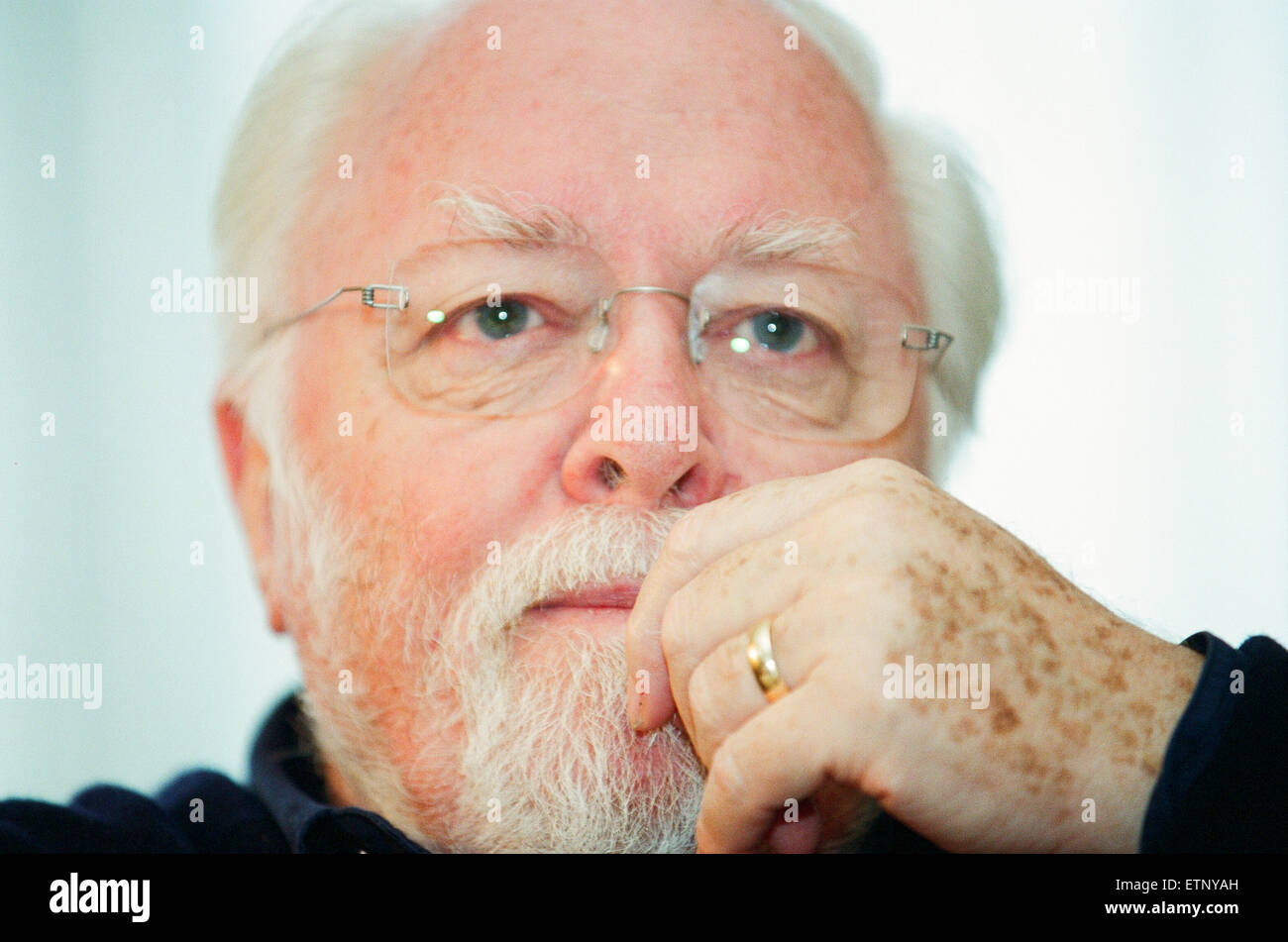 Sir Richard Attenborough, actor, film director, film producer, and entrepreneur. Pictured during interview at The - Stock Image