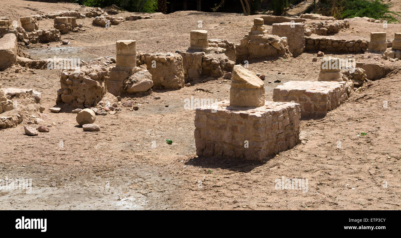Ancient Aqaba. Jordan. Arabia. Ruins of medieval Ayla city, Aqaba, Jordan - Stock Image