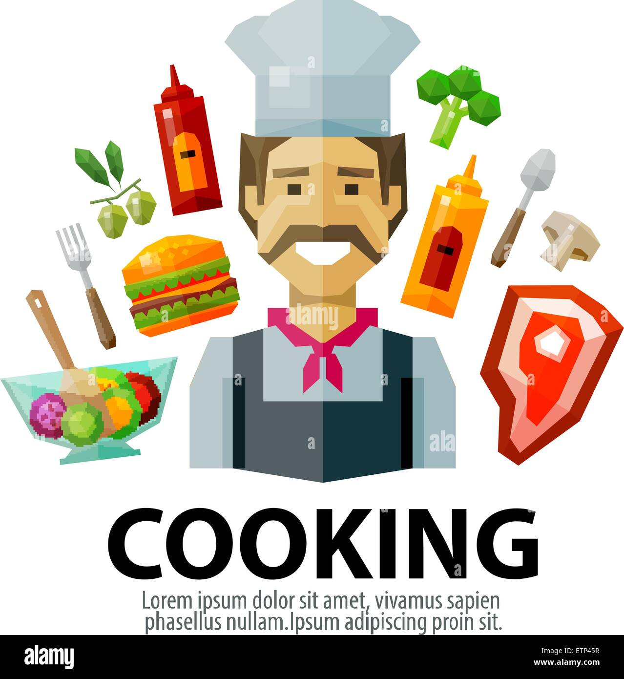 Cooking Vector Logo Design Template Fresh Food Or Chef Cook Icon Stock Vector Image Art Alamy