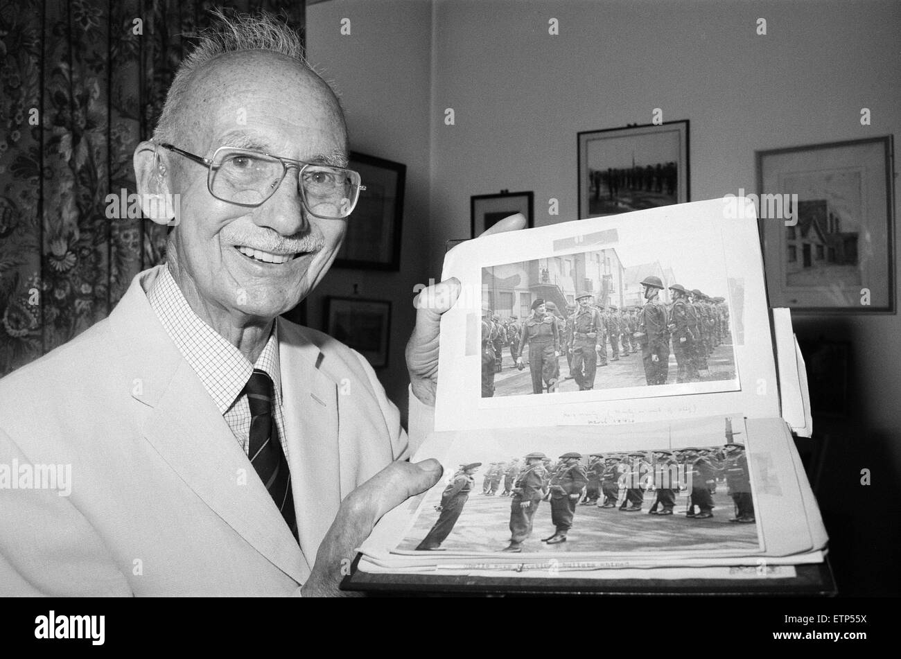 Norman Edwards, from Sutton Coldfield, aged 92. Former chairman and managing director of the Metropolitan Cammell - Stock Image