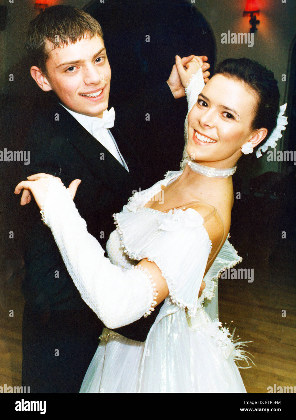 Billingham teenagers Neil Meredith and Angela Brown, both 15,  have been well and truly bitten by the ballroom bug. - Stock Image