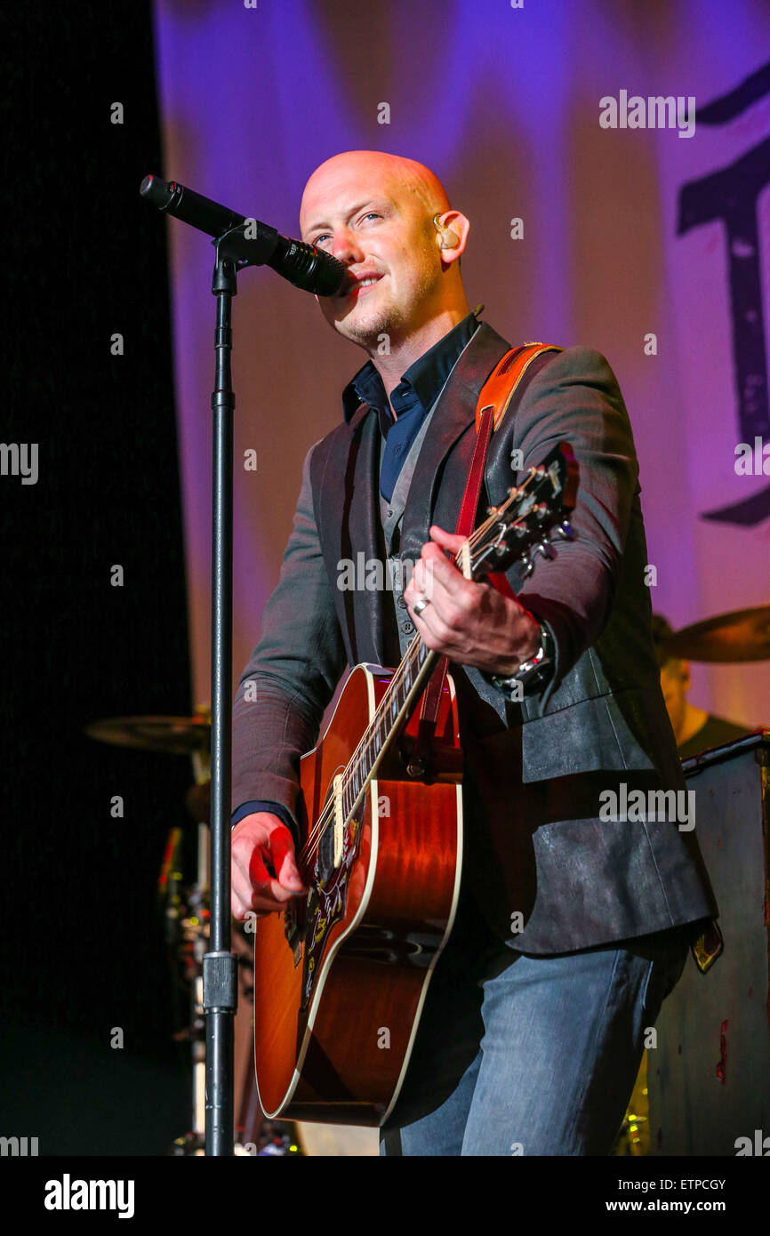 Raleigh, North Carolina, USA. 10th June, 2015. The Fray performs in North Carolina. The Fray is an American rock - Stock Image