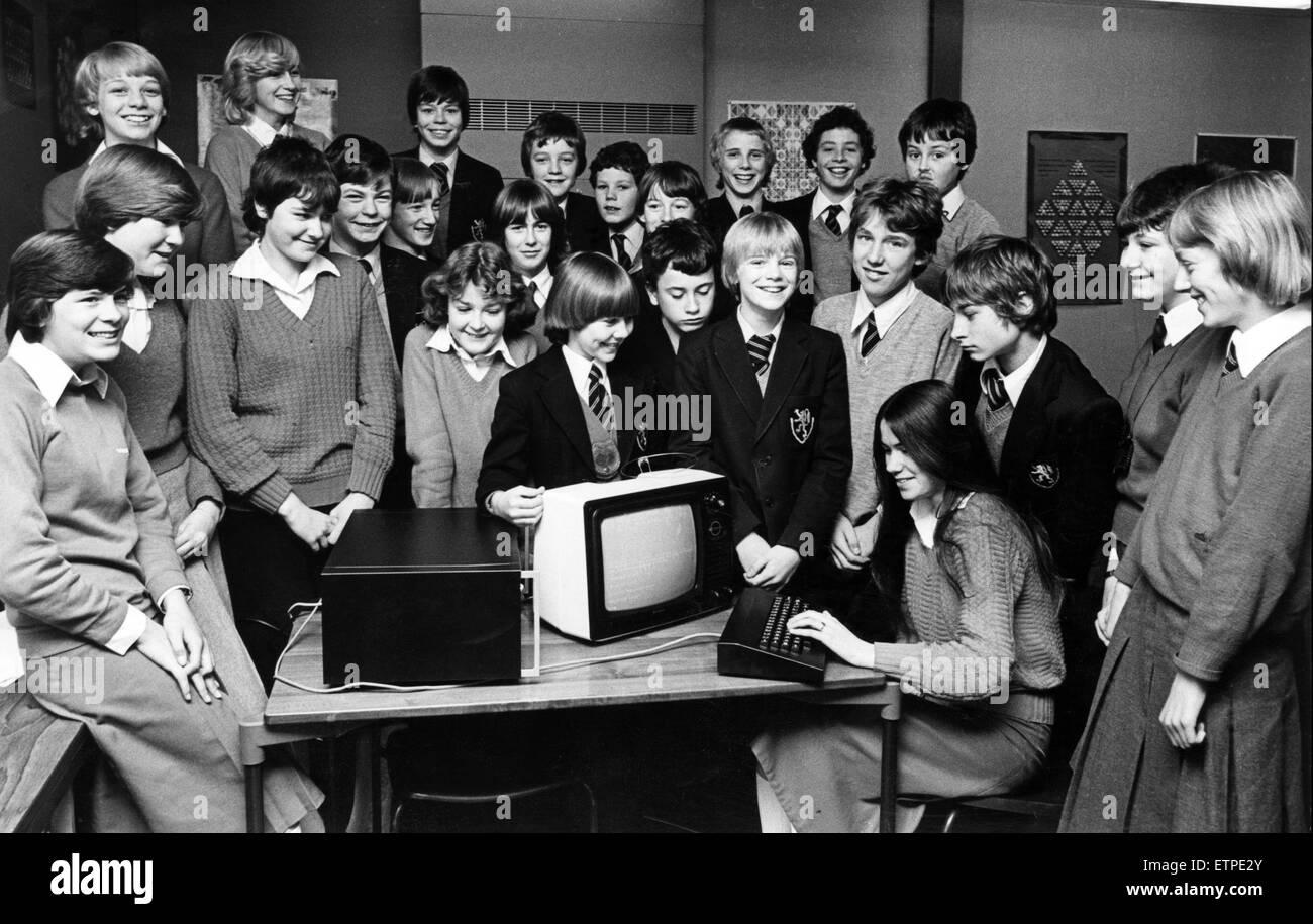The De Brus School has moved into the age of the computer. The school entered a competition sponsored by the department - Stock Image