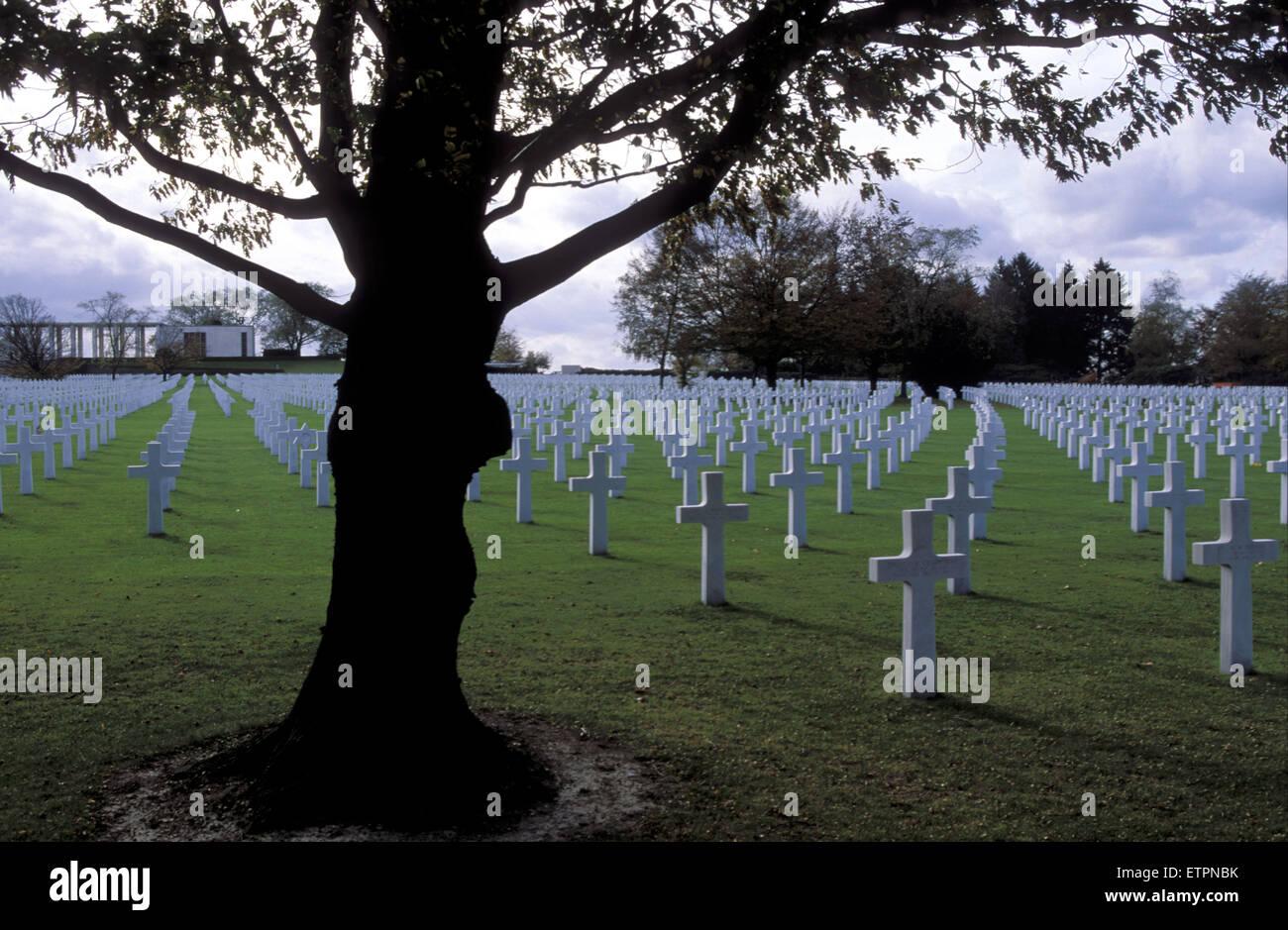 BEL, Belgium, US military cemetery Henrie-Chapelle near Liege and Aachen.  BEL, Belgien, der US-Soldatenfriedhof Stock Photo