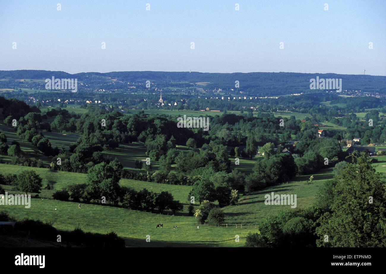BEL, Belgium, Eastbelgium, countryside between Welkenraedt and Lontzen.  BEL, Belgien, Ostbelgien, Landschaft zwischen Stock Photo