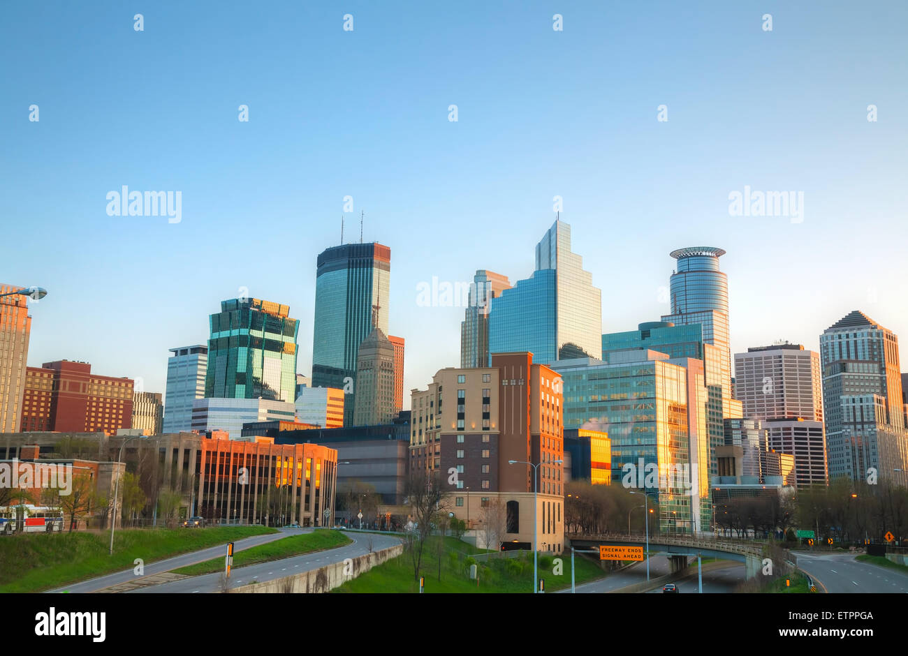 Downtown Minneapolis, Minnesota in the morning - Stock Image