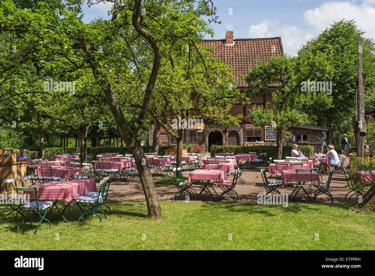 Beer Garden Restaurant Spieker In The Ammerland Open Air Museum In Stock Photo Alamy
