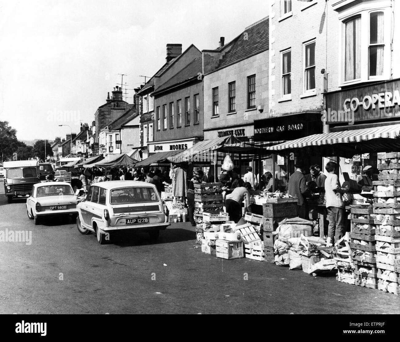Guisborough Market. 20th August 1968. - Stock Image