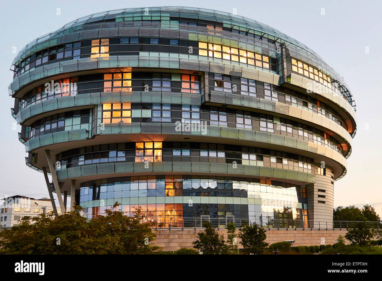 Internationally Neuroscience institutes, clinic, Hannover, evening atmosphere - Stock Image