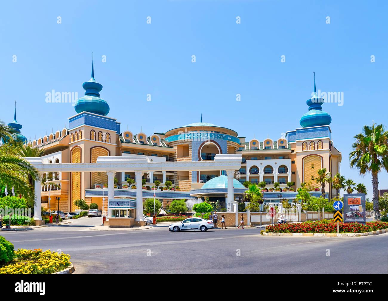 Turkey Crystal Sunset Resort Spa Hotel Side Stock Photo