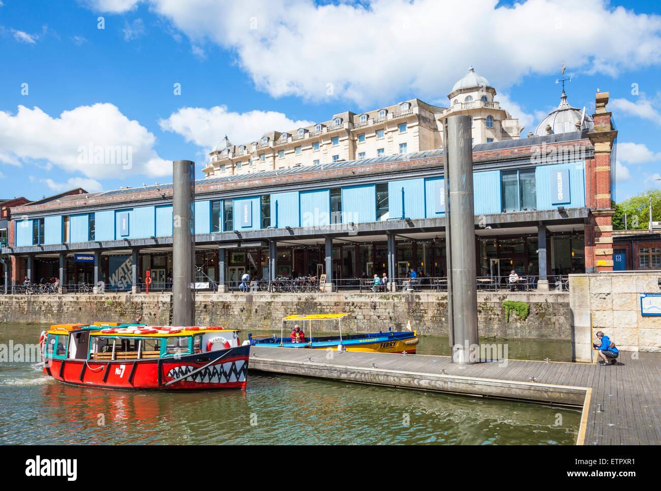 Bristol watershed and tourist boat Bristol City centre Bristol Avon England UK GB EU Europe - Stock Image