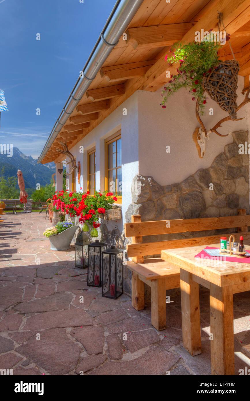 Mountain Inn Korbinianhütte Restaurant Mittenwald Upper Bavaria - Table mountain inn restaurant