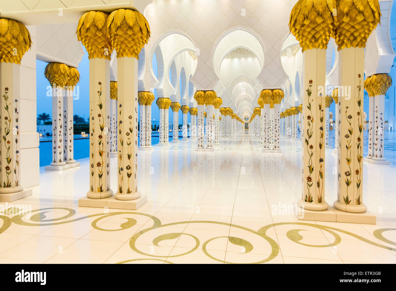 Sheikh Zayed Mosque in Abu Dhabi. - Stock Image