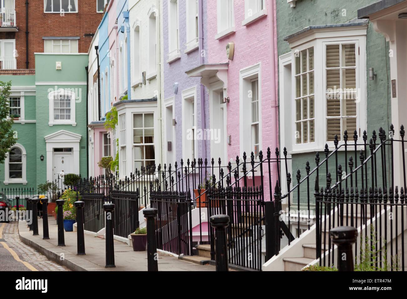 Upmarket street in Chelsea, London - Stock Image
