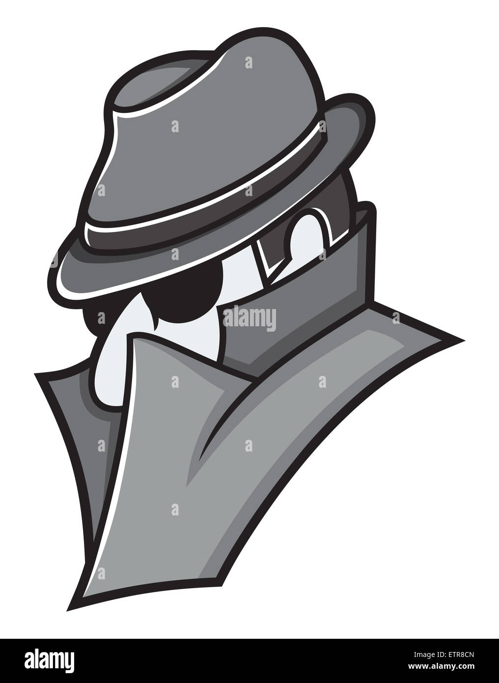 Vector illustration of the spy - Stock Image