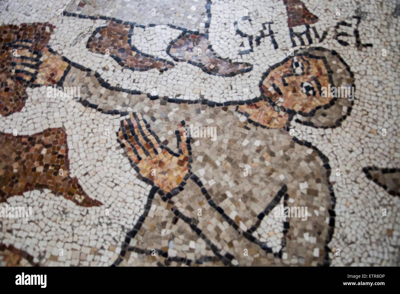 Mosaico, Cathedral, Otranto, Apulia, Italy Stock Photo