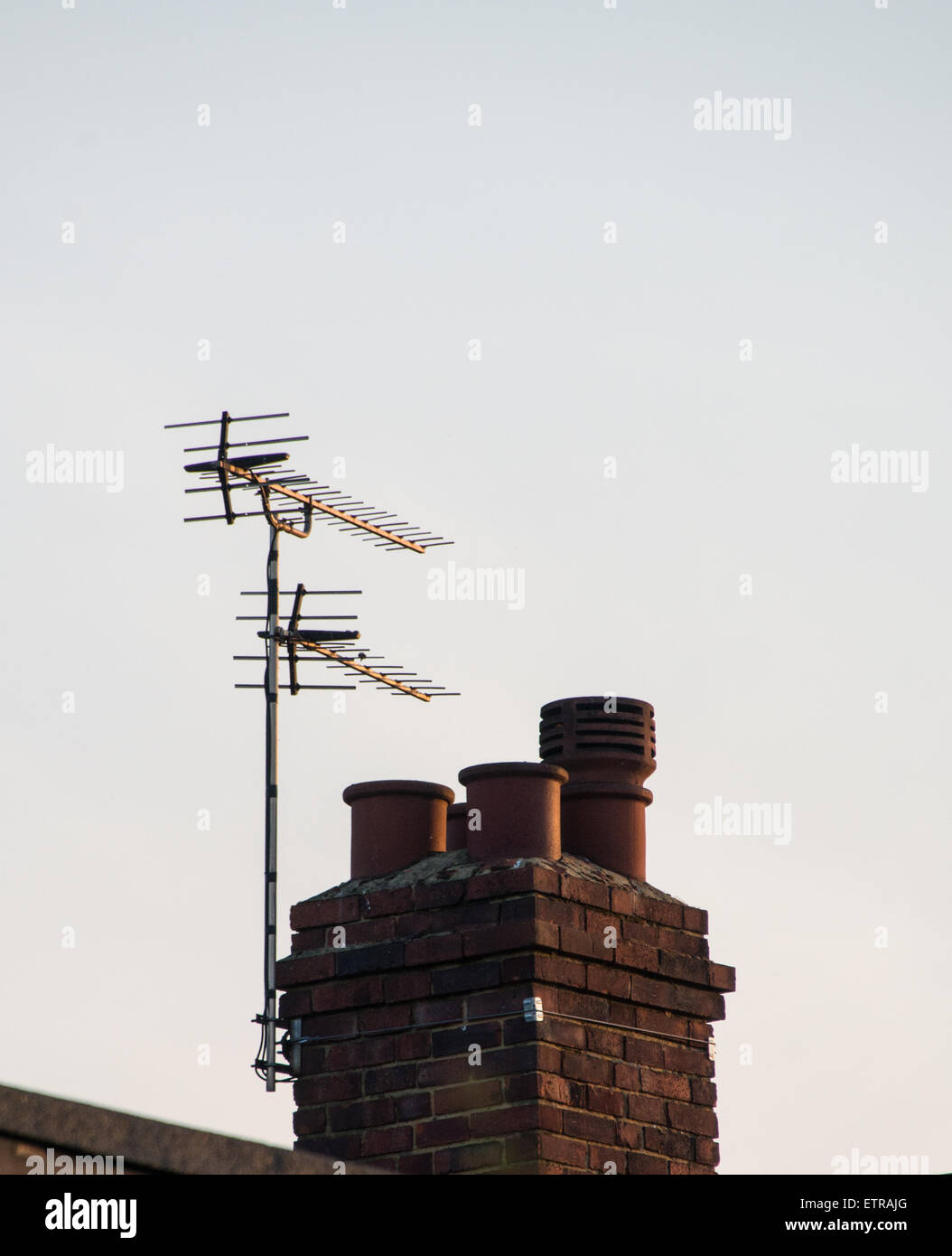external.domestic television aerial. - Stock Image