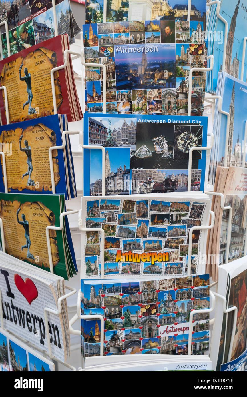 Belgium, Antwerp, assorted postcards - Stock Image