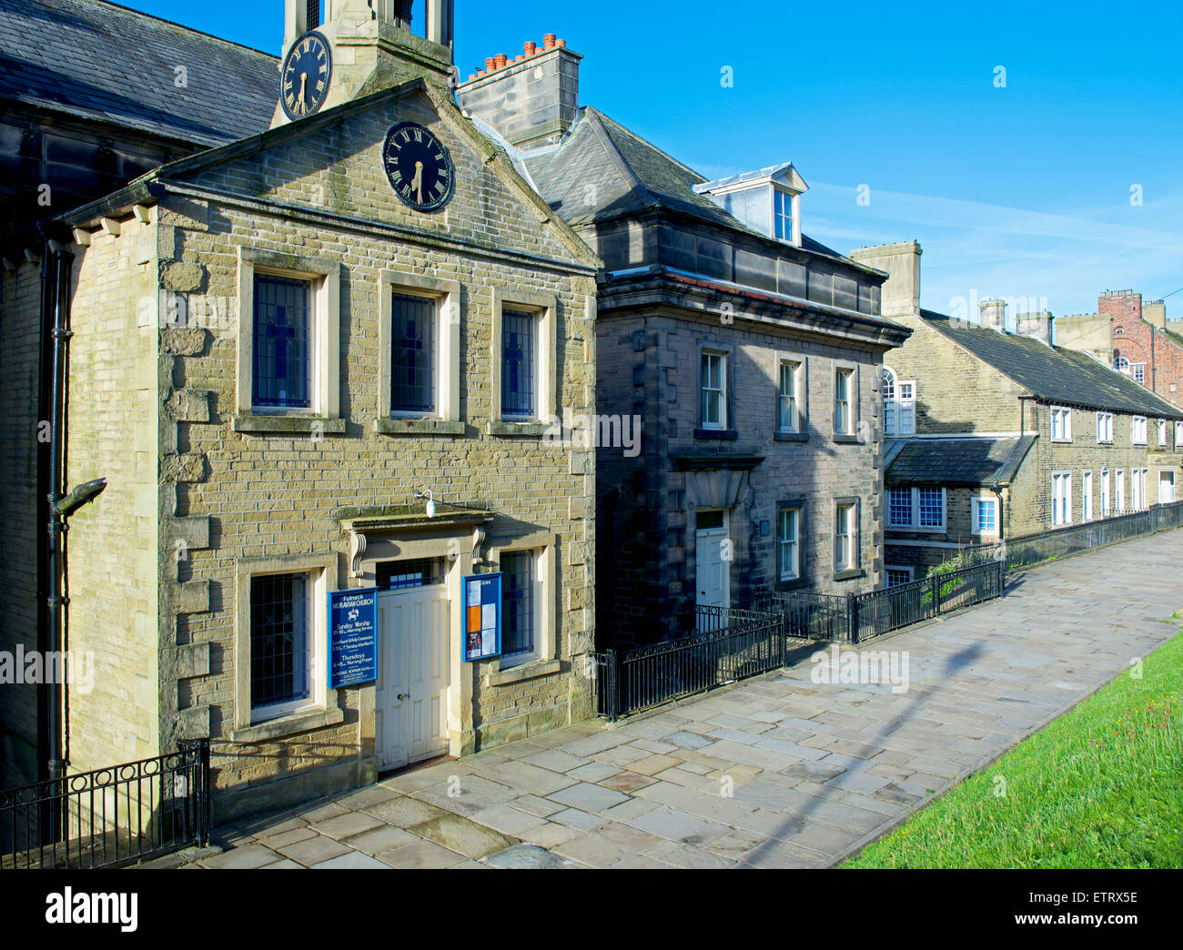 Fulneck Moravian Church and Settlement, Pudsey, Leeds, West Yorkshire, England UK - Stock Image