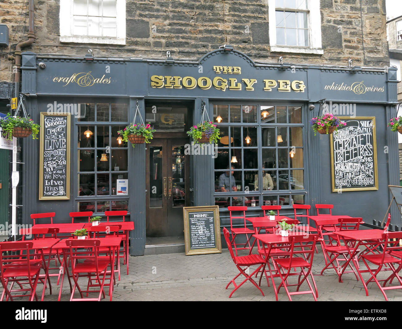 The Shoogly Peg pub, Rose St,Edinburgh,Scotland,UK - Stock Image