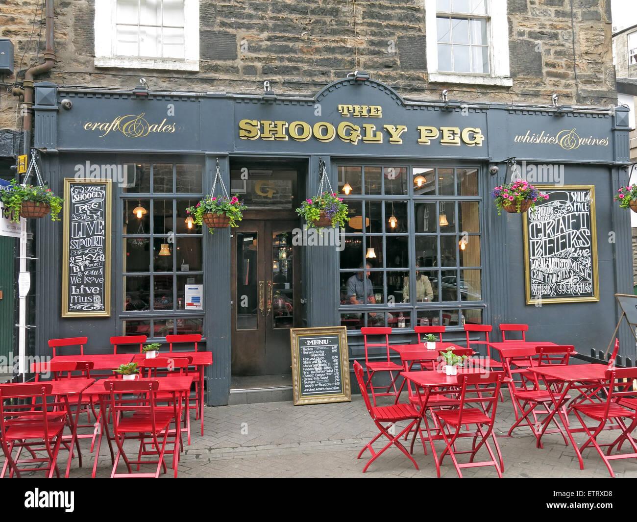 The Shoogly Peg pub, Rose St,Edinburgh,Scotland,UK Stock Photo