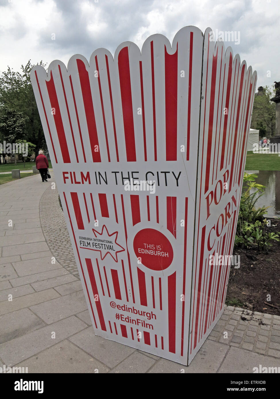 Film in The City, Grassmarket and St Andrew Square screenings, Edinburgh, Scotland, UK - Stock Image
