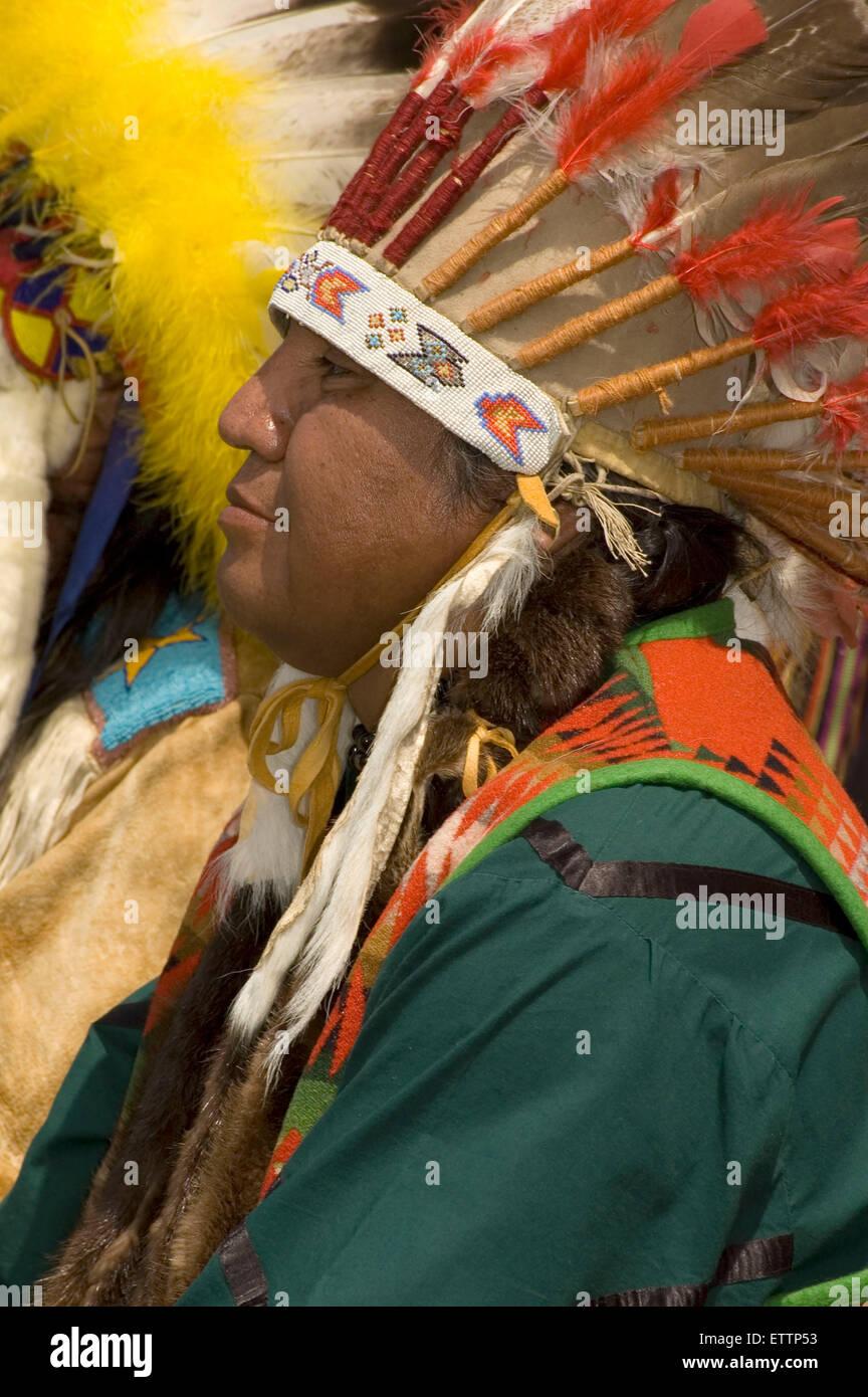 Treaty signing reenactment, Pi-Ume-Sha Treaty Days, Warm Springs Indian Reservation, Oregon - Stock Image