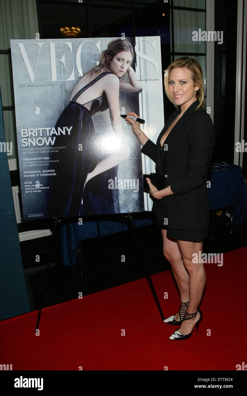 Brittany Snow at arrivals for Vegas Magazine 12th Anniversary Cover Party,  OMNIA Nightclub Las Vegas
