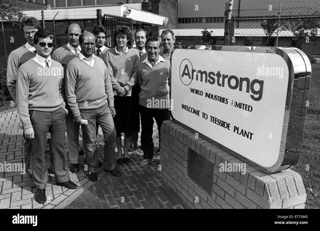 Armstrong World Industries Limited. Teesside Plant. 7th September 1987. - Stock Image