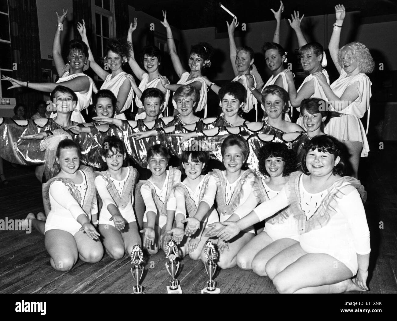 Talented girls from a Cleveland dance school swept the bard at a major championship. The disco youngsters from the - Stock Image
