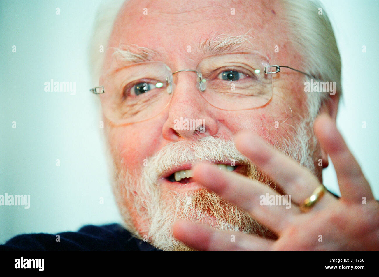 Sir Richard Attenborough, actor, film director, film producer, and entrepreneur. Pictured during interview at The Stock Photo