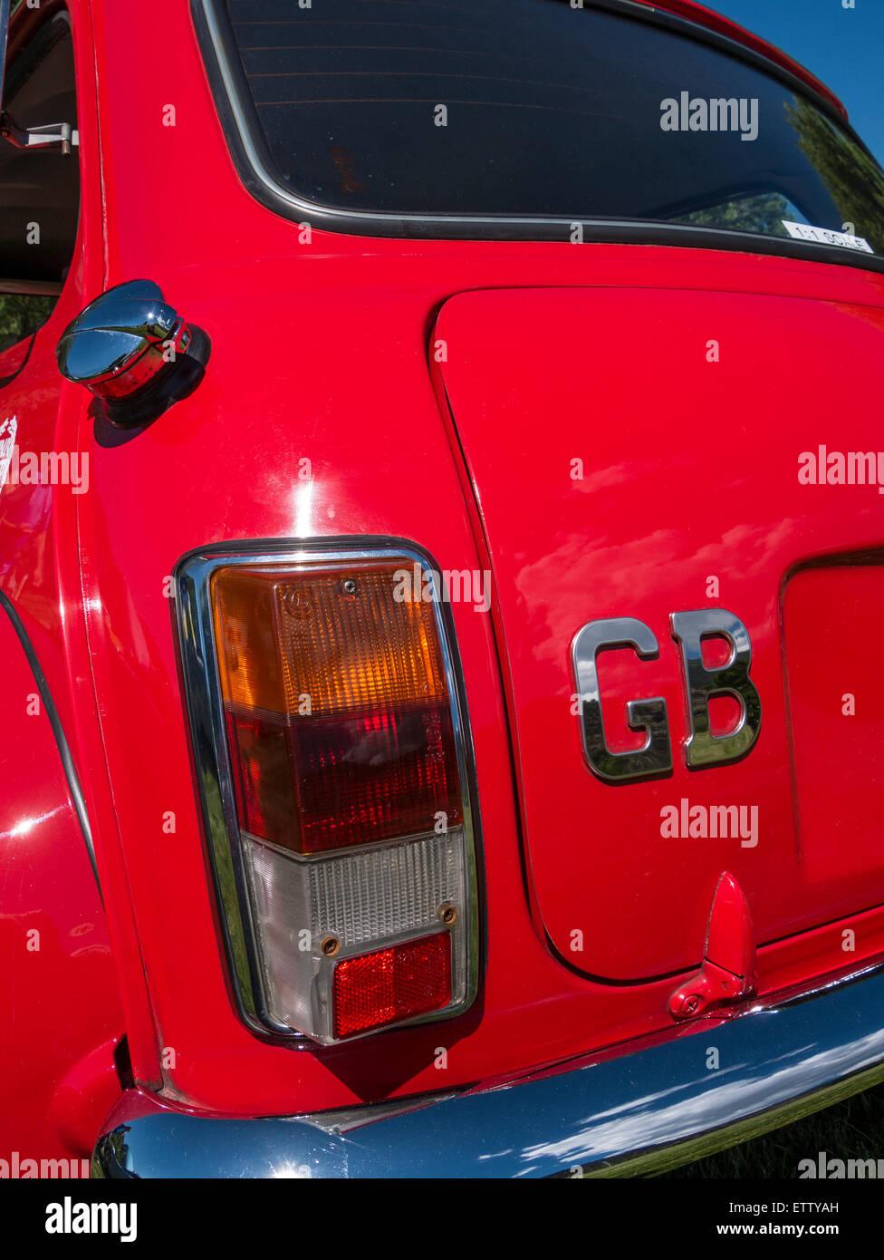 1974 Mini Cooper, MG Car Rallye, Glenwood Springs, Colorado. - Stock Image