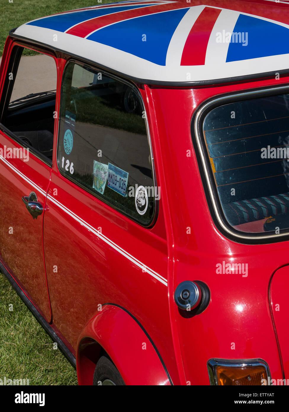 1973 Mini Cooper, MG Car Rallye, Glenwood Springs, Colorado. - Stock Image