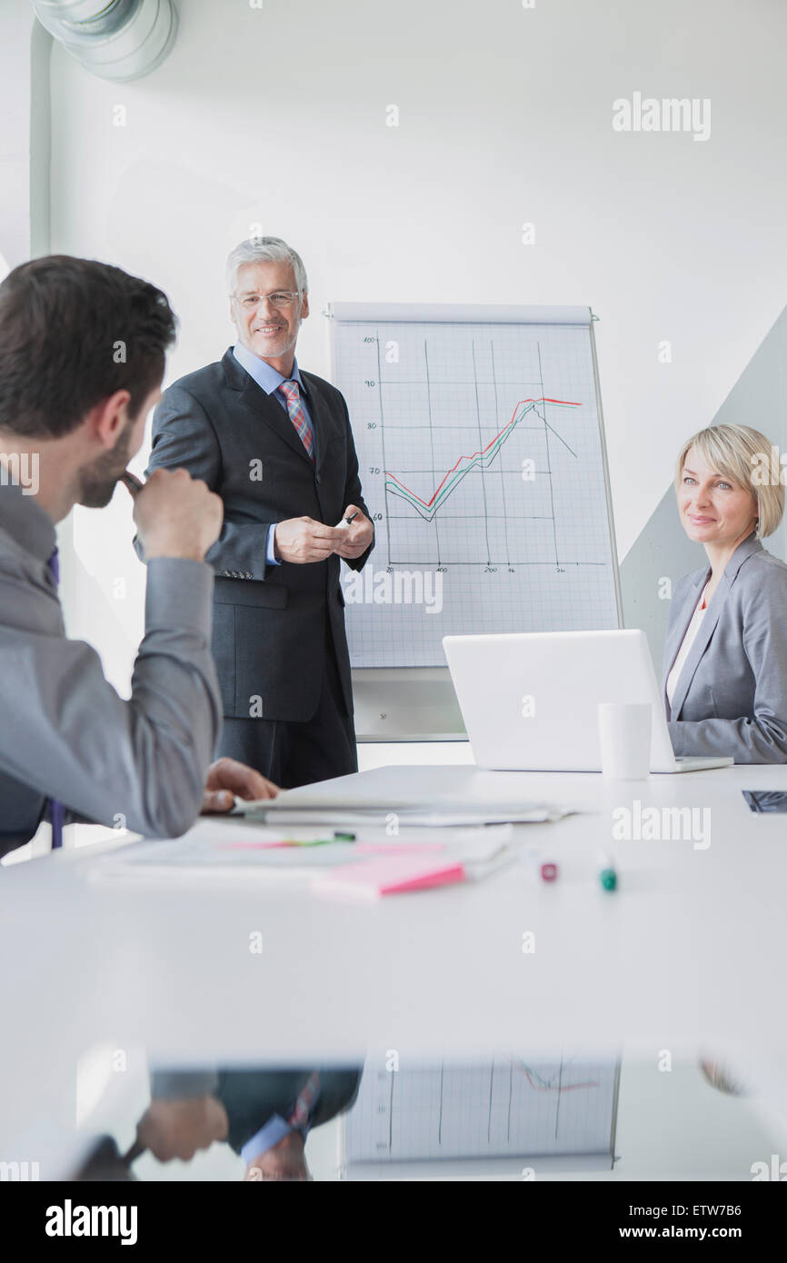 Business people in meeting discussing new strategies - Stock Image