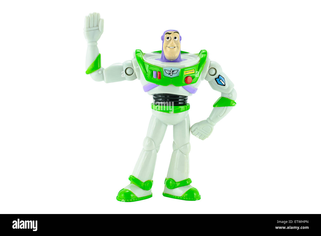 Bangkok,Thailand - February 15, 2015: Buzz Lightyear robot toy character form Toy Story animation film. - Stock Image