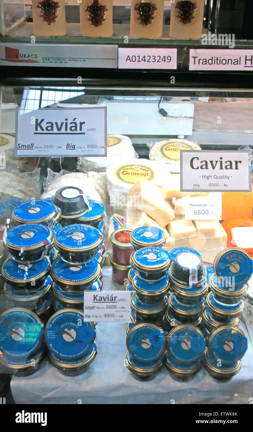caviar Central market Budapest Hungary - Stock Image