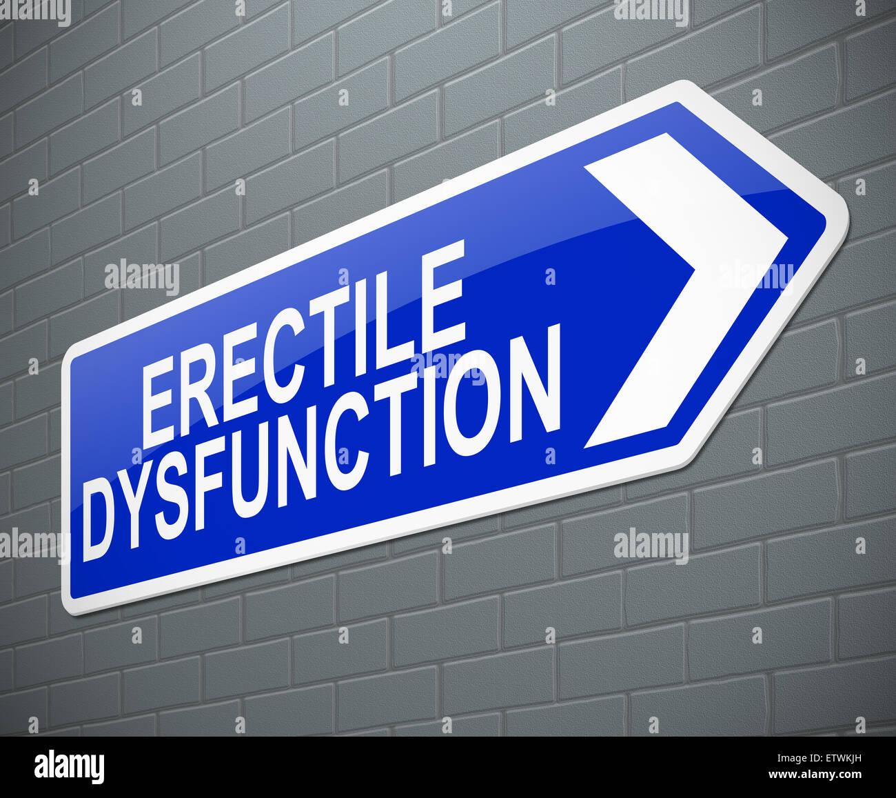 Erectile dysfunction concept. - Stock Image