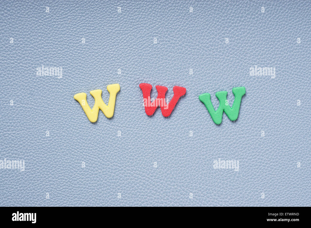 www in colorful letters - Stock Image
