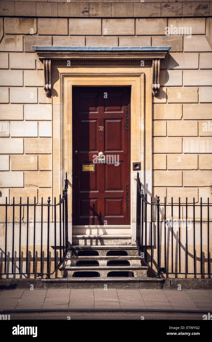 Vintage doors and gates of Oxford, United Kingdom Stock Photo